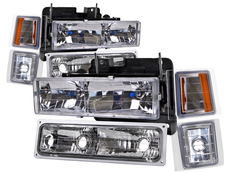 Image Is Loading Headlights Set Fits 1994 1998 Chevrolet Suburban Silverado